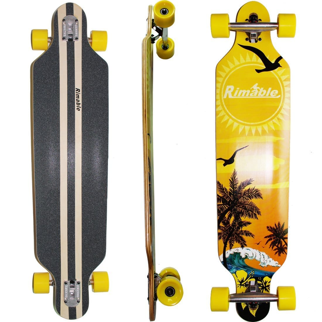 Rimable Drop-through Longboard