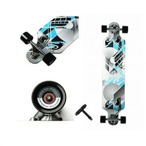 WiiSHAM Professional Speed Drop Down Complete Longboard Skateboard(42 Inches)