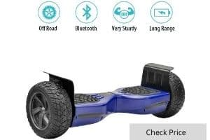"TPS All Terrain Off-Road Rugged Hoverboard 8.5"" Wheels Electric Smart Self Balancing Scooter with Speaker and LED Lights"